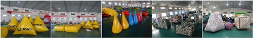 Inflatable Buoys and Paintball Bunker