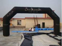 Custom Black Inflatable Angle Arch