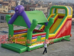 4 In 1 Jungle Bounce House Slide Combo