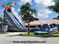 Giant Curve Inflatable Water Slide