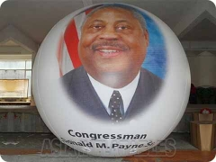 Inflatable Helium Balloon For Presidential Election With Figure Printed and Balloons Show